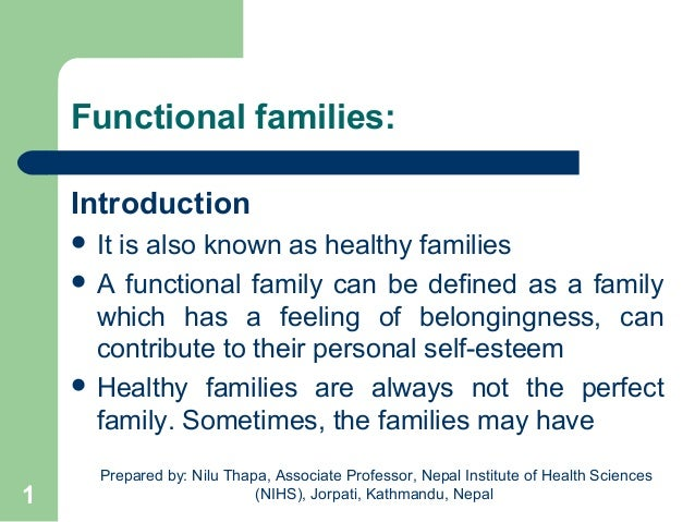functional or dysfunctional families