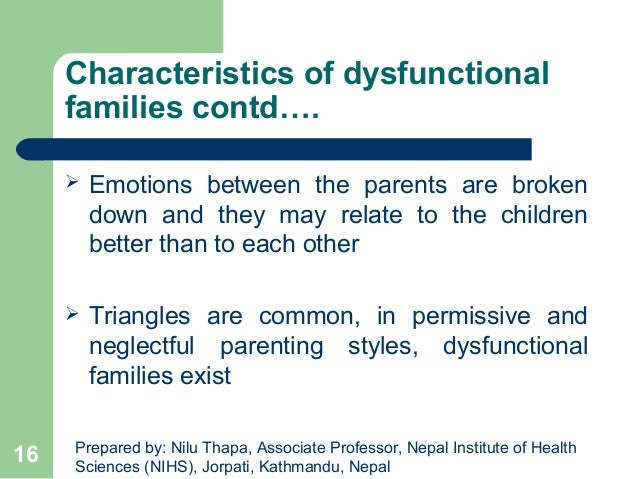 reasons for a dysfunctional family This momjunction post tells you what a dysfunctional family is, types and signs of  a dysfunctional family,  reasons for dysfunctional families.