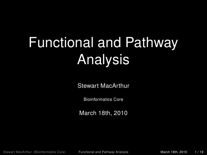 Functional And Pathway Analysis 2010