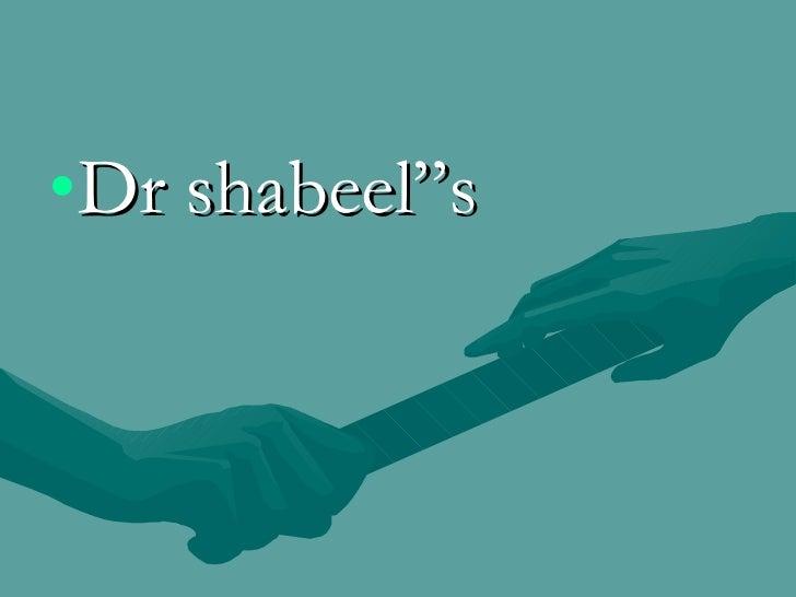 """<ul><li>Dr shabeel""""s </li></ul>"""