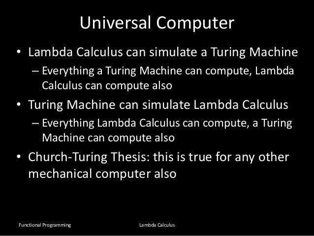 Church turing thesis turing machines