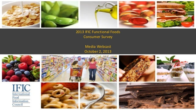 2013 IFIC Functional Foods Consumer Survey Media Webcast October 2, 2013