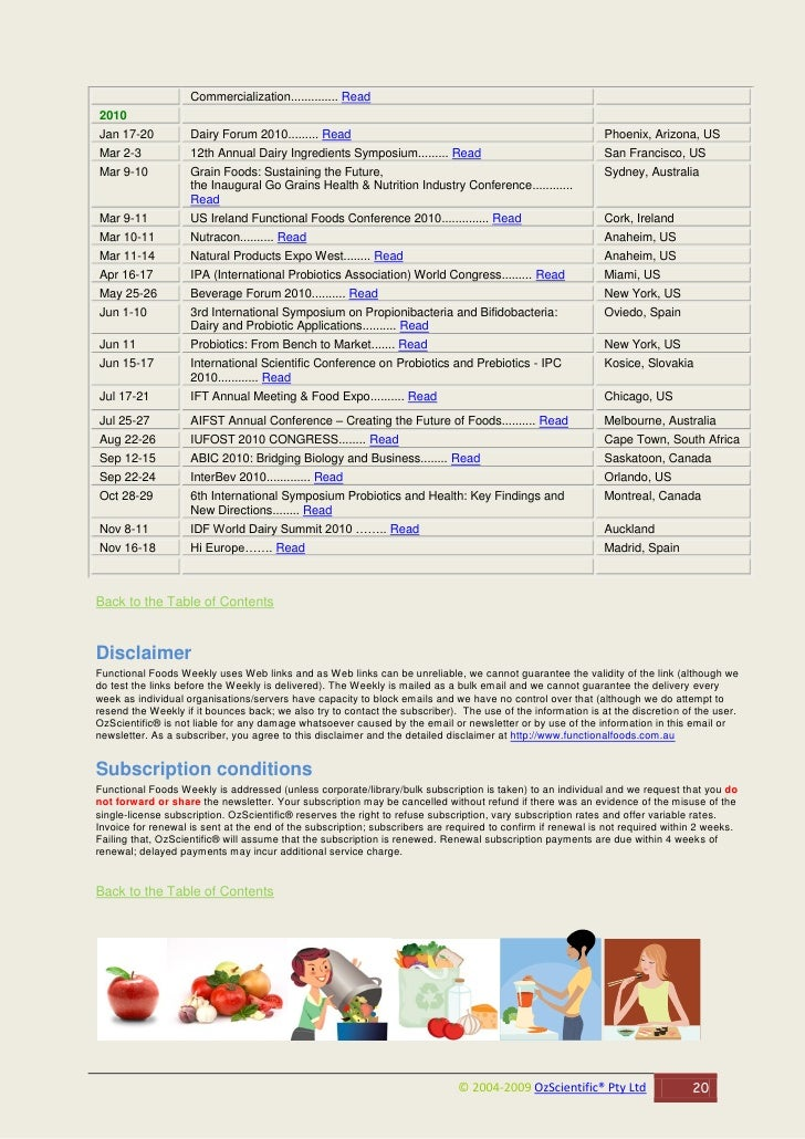 Commercialization.............. Read 2010 Jan 17-20           Dairy Forum 2010......... Read                              ...