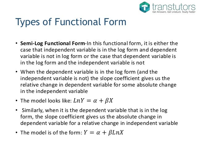 Functional Forms of Regression Models | Eonomics