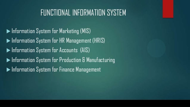 functional information system
