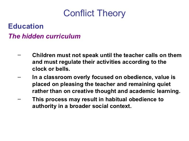 conflict theory in relation to education