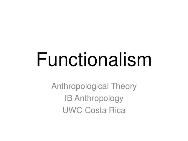 functionalism anthropology