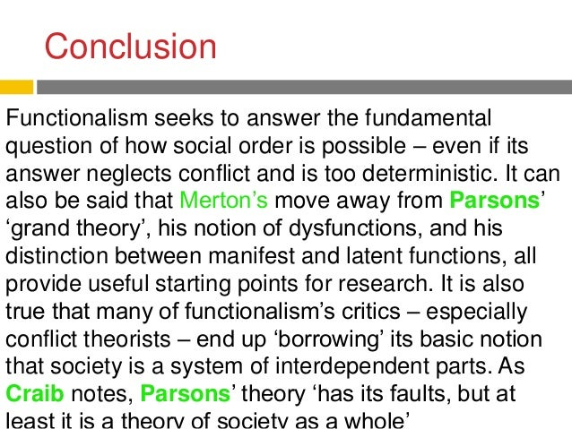 manifest and latent functions merton Robert k merton: theories and functionalism weber and formal rationality faith communities can be said to have a variety of manifest and latent functions.