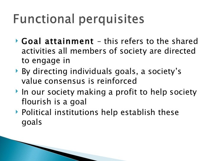 Functionalist Social Theory