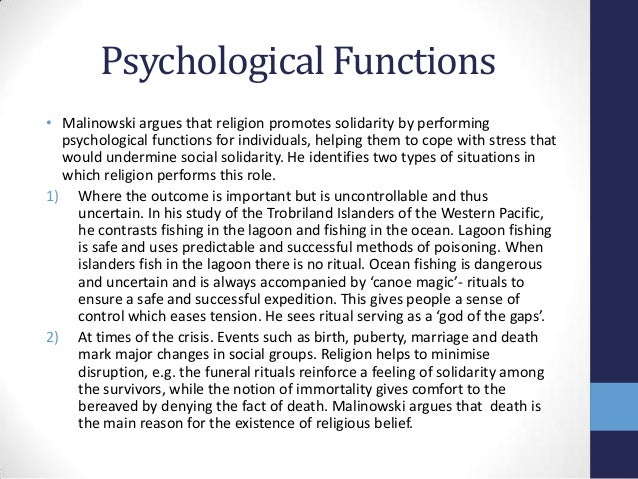 functionalist perspective on religion essay According to the functionalist perspective of sociology, each aspect of society is interdependent and contributes to society's stability and functioning as a wh.