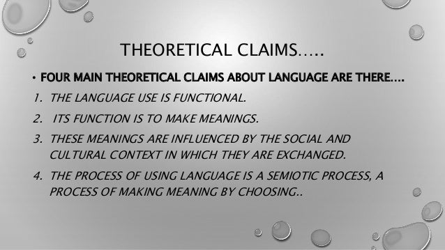 DEVELOPMENT OF LINGUISTIC THEORY IN THE TWENTIETH CENTURY  MANY LINGUISTS HOLD THE FACT THAT LANGUAGE IS USED FOR COMMUNI...