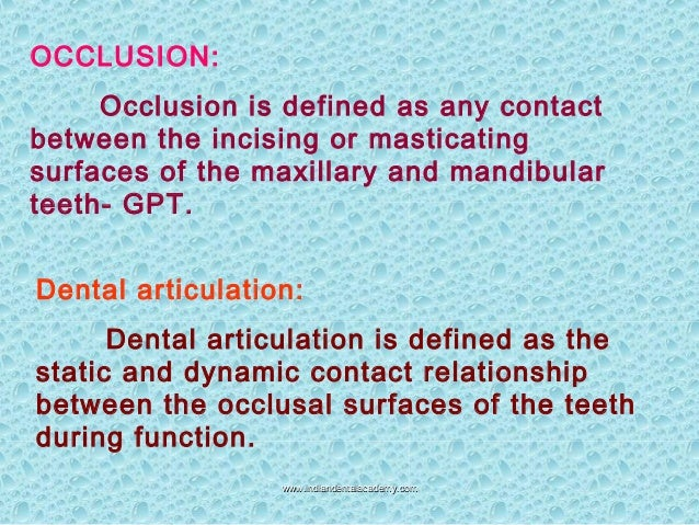 Functionally generated path  occlusion final/ cosmetic dentistry training