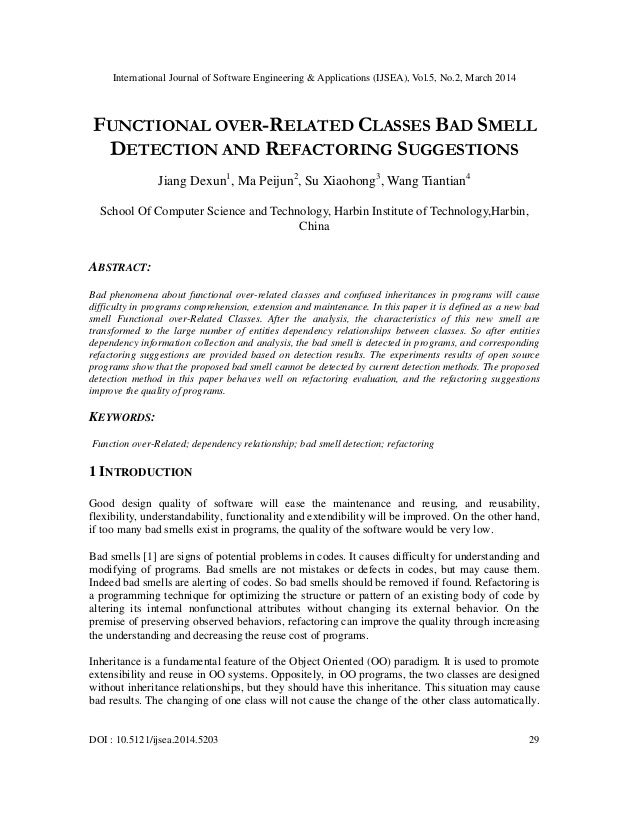 International Journal of Software Engineering & Applications (IJSEA), Vol.5, No.2, March 2014 DOI : 10.5121/ijsea.2014.520...