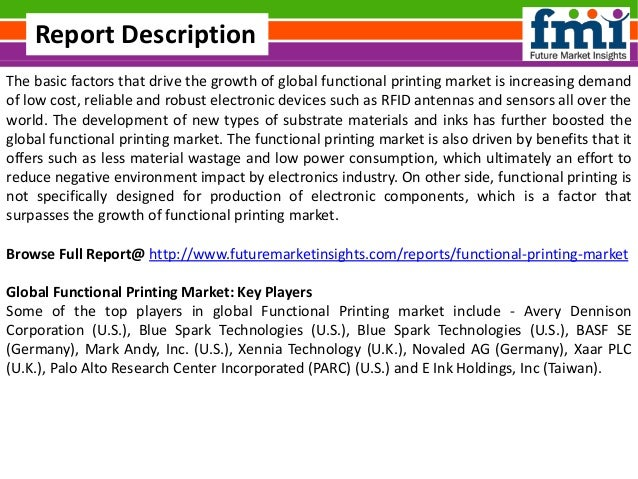 Functional Printing Market Forecast And Segments 2015 2025