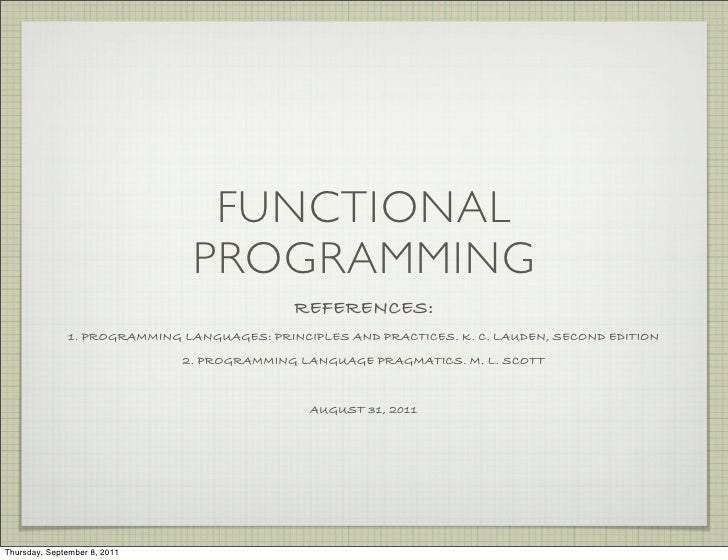 FUNCTIONAL                               PROGRAMMING                                            REFERENCES:              1...