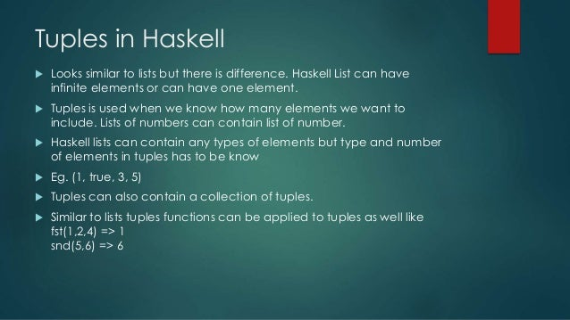 Functional programming seminar (haskell)