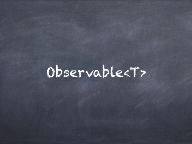 Observable<T>