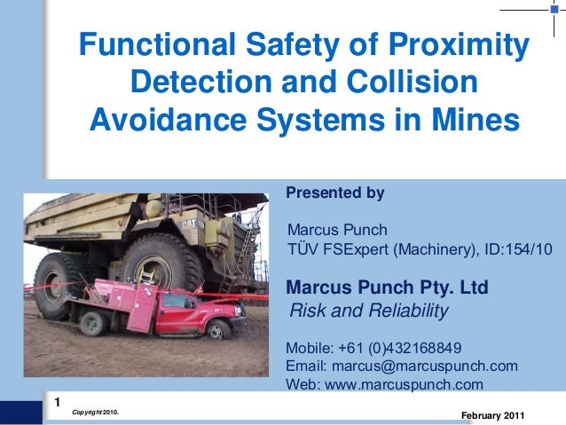 Functional safety of collision avoidance systems in mines ...