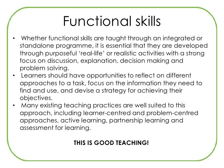 ptlls embedding functional skills Annex 7 illustrations of plts in functional skills 1 qca guidelines on recording personal, learning and thinking skills in the diploma, january 2008.