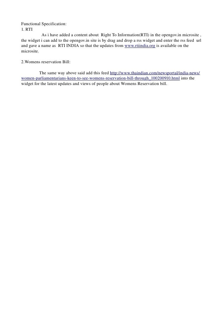 FunctionalSpecification: 1.RTI AsihaveaddedacontentaboutRightToInformation(RTI)intheopeng...
