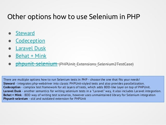 Workshop: Functional testing made easy with PHPUnit & Selenium (phpCE…