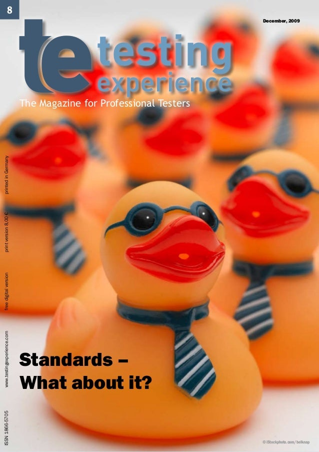 ISSN 1866-5705              www.testingexperience.com   free digital version   print version 8,00 €   printed in Ge...