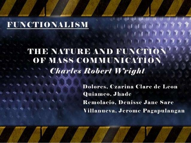 functions of mass communication