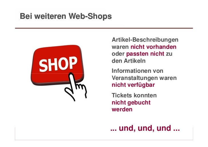 Bei weiteren Web-Shops                                 Artikel-Beschreibungen                                 waren nicht ...
