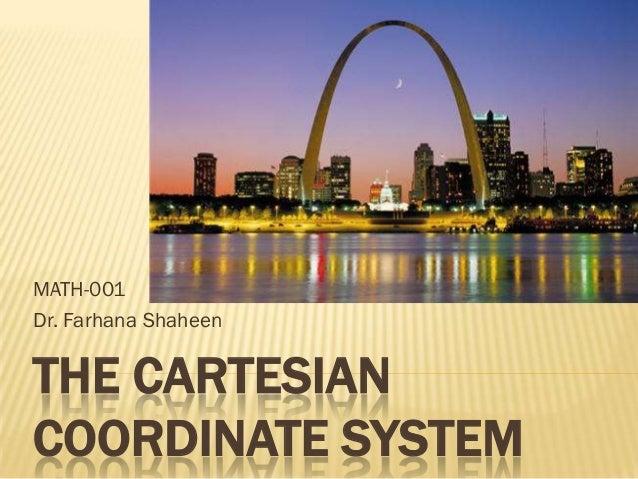 MATH-001Dr. Farhana ShaheenTHE CARTESIANCOORDINATE SYSTEM