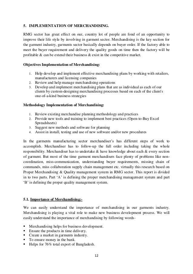 Function importance of merchandising in apparel industry 21 12 5 implementation of merchandising fandeluxe Gallery