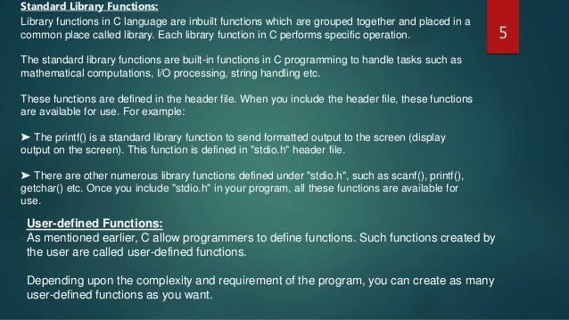 Presentation on Function in C Programming