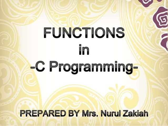 A large program in c can be divided to many subprogramThe subprogram posses a self contain components and have well define...