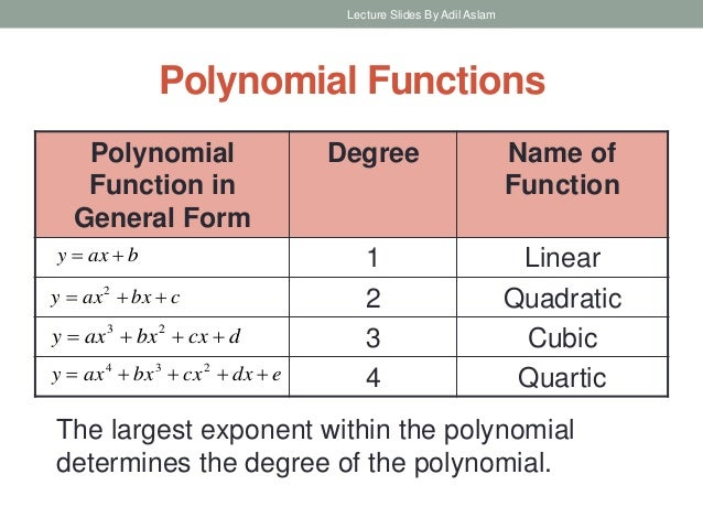 an examination of polynomials and its role in mathematics From a mathematical point of view, he began corresponding with jacobi and he   5 years working towards his degree he took and passed the examinations for   to number theory and algebra, orthogonal polynomials, and elliptic functions.