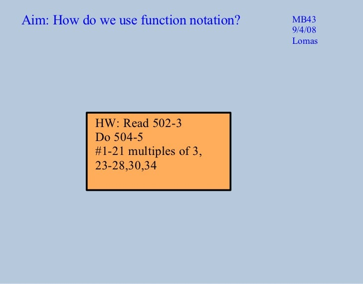 how to find function notation