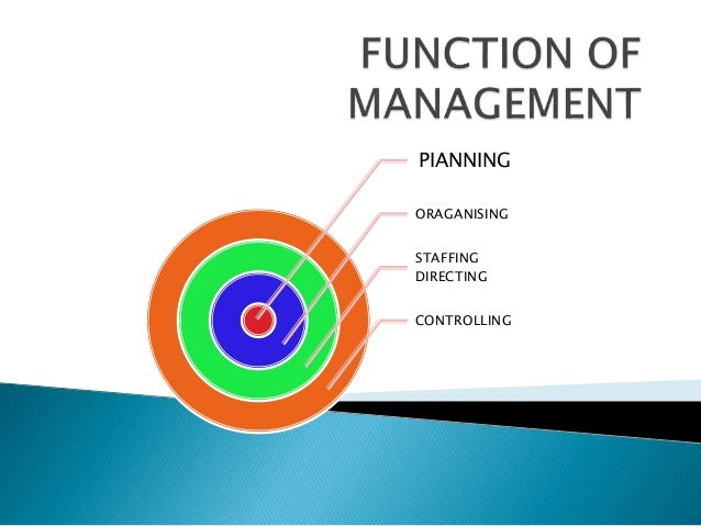 directing function of principles of management Directing as a function of management is concerned with instructing,   democratic leadership: this principle states that leader should give.