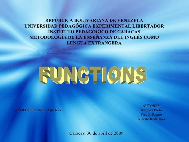 REPÚBLICA BOLIVARIANA DE VENEZELA UNIVERSIDAD PEDAGÓGICA EXPERIMENTAL LIBERTADOR INSTITUTO PEDAGÓGICO DE CARACAS METODOLOG...