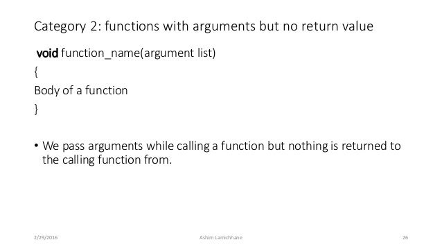 Unit 7 functions 26 category 2 functions with arguments but no return value malvernweather Choice Image