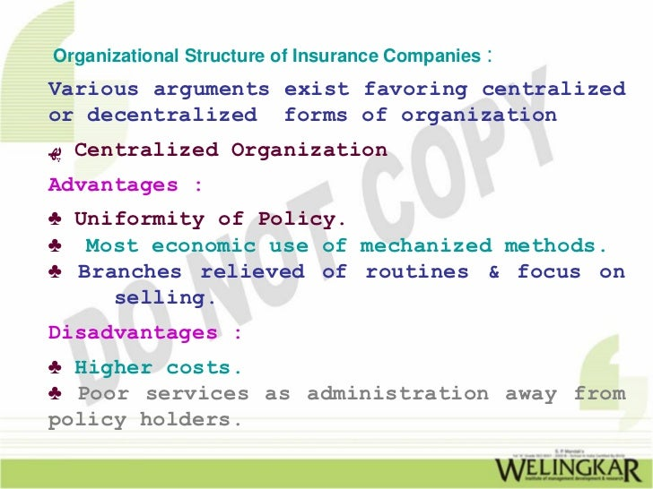 decentralized underwriting authority definition