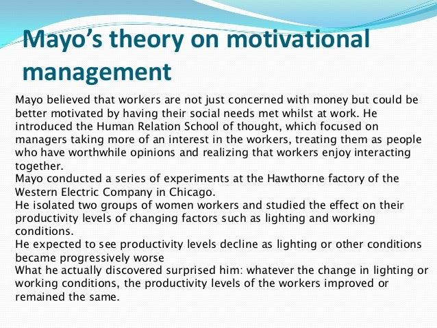 elton mayo contribution to management essays