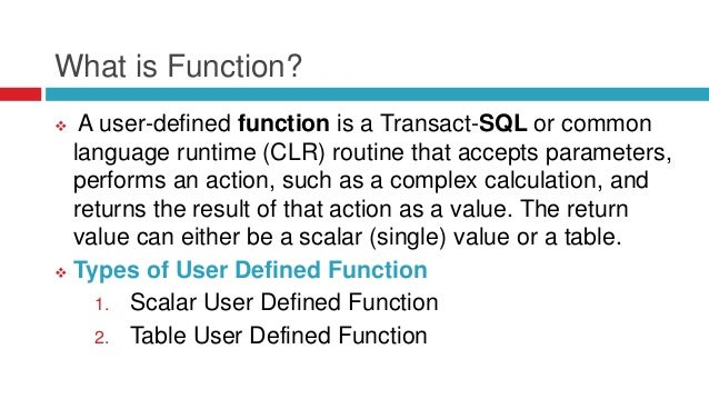 Functions in sap hana