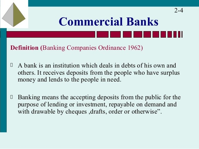 Commercial Bank Definition