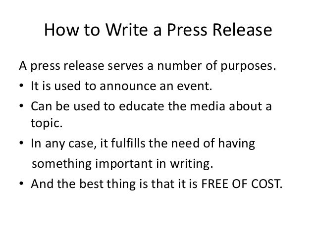 How to write a good press release for an event for How to write a press release for an event template
