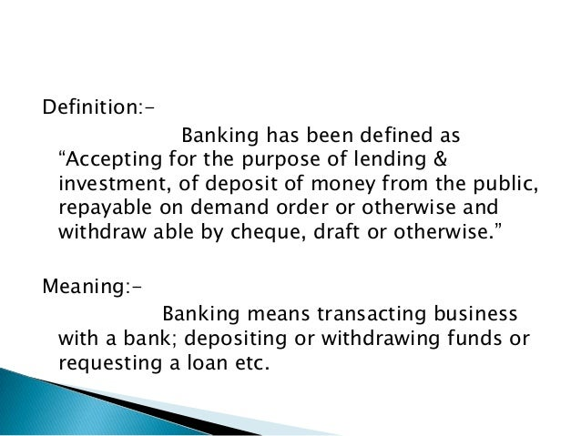 Functions of banks