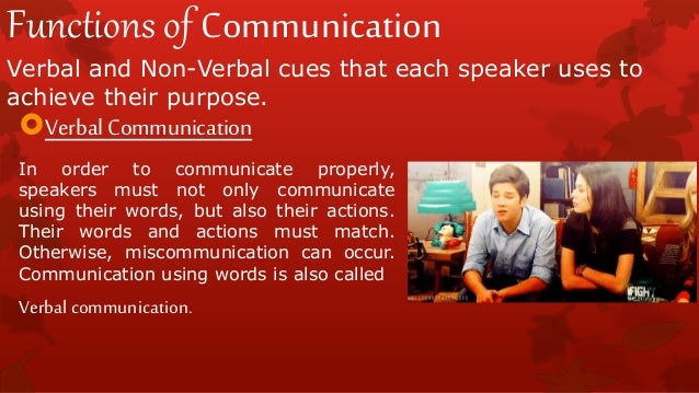 function of communication emotional expression