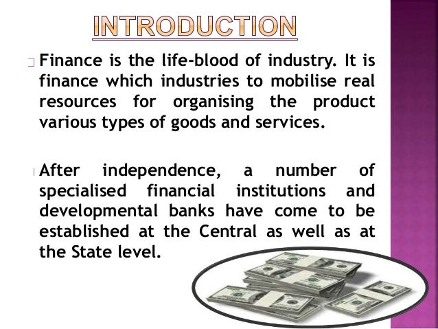 types of industrial finance