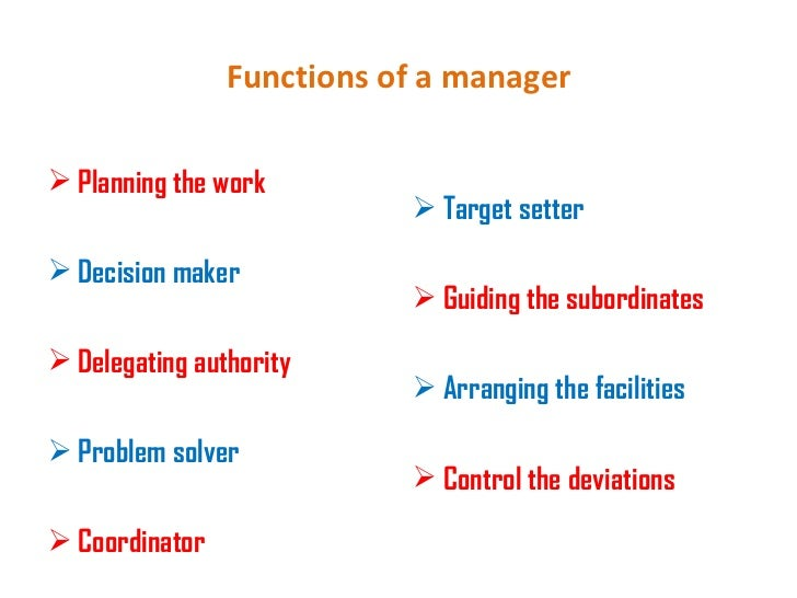the functions of a manager Computer and information systems managers, often called information technology  an it security manager should have previously worked in information security.