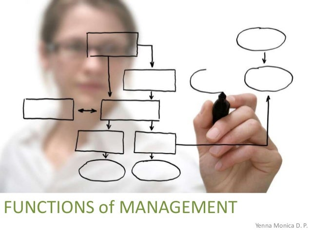 FUNCTIONS of MANAGEMENT Yenna Monica D. P.