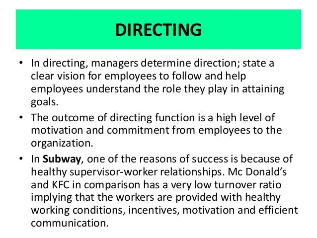 kfc employees motivation Motivating employees from other cultures  the three steps listed below will help you design motivation strategies that are culturally aware and,.