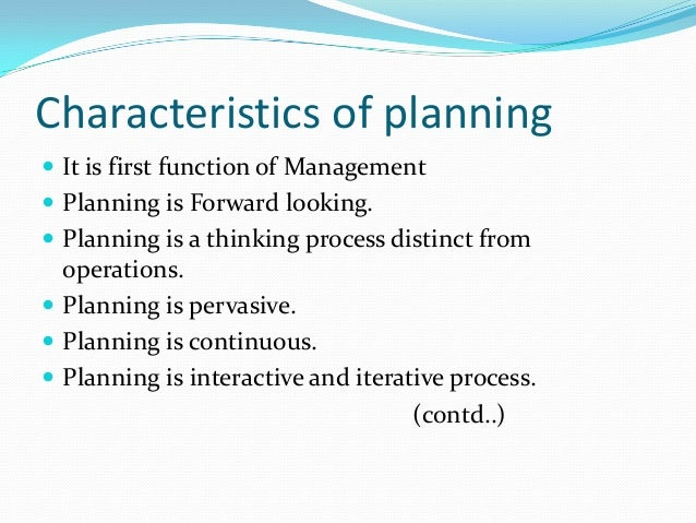 the first function of management is