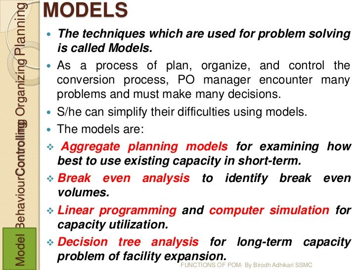 an introduction to the operations planning function Principles and applications of operations research term problems such as strategic planning and introduction to operations research, mcgraw-hill.